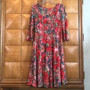 Leslie Fay Multicolored Midi-Dress. Size 10. NWT!!